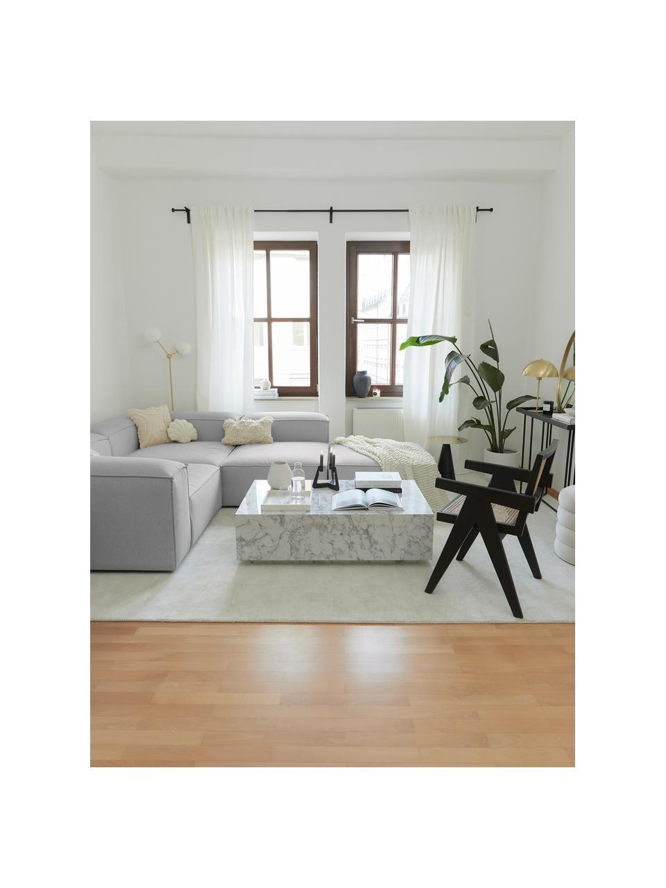 Modulaire hoekbank Lennon, Bekleding: polyester, Frame: massief grenenhout, multi, Poten: kunststof, Lichtgrijs, B 327 x D 207 cm