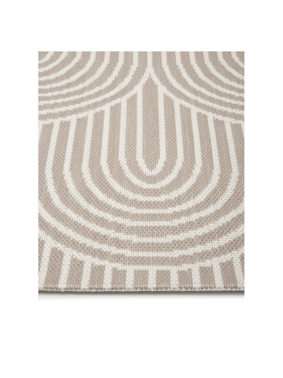 In- & outdoor vloerkleed Arches in beige/wit, 86% polypropyleen, 14% polyester, Beige, wit, B 200 x L 290 cm (maat L)