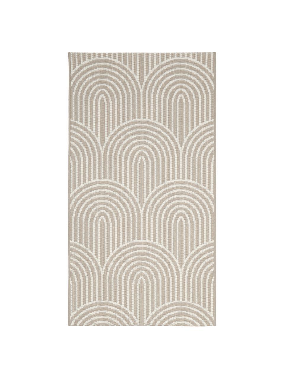 Tappeto beige/bianco da interno-esterno Arches, 86% polipropilene, 14% poliestere, Beige, bianco, Larg. 200 x Lung. 290 cm (taglia L)