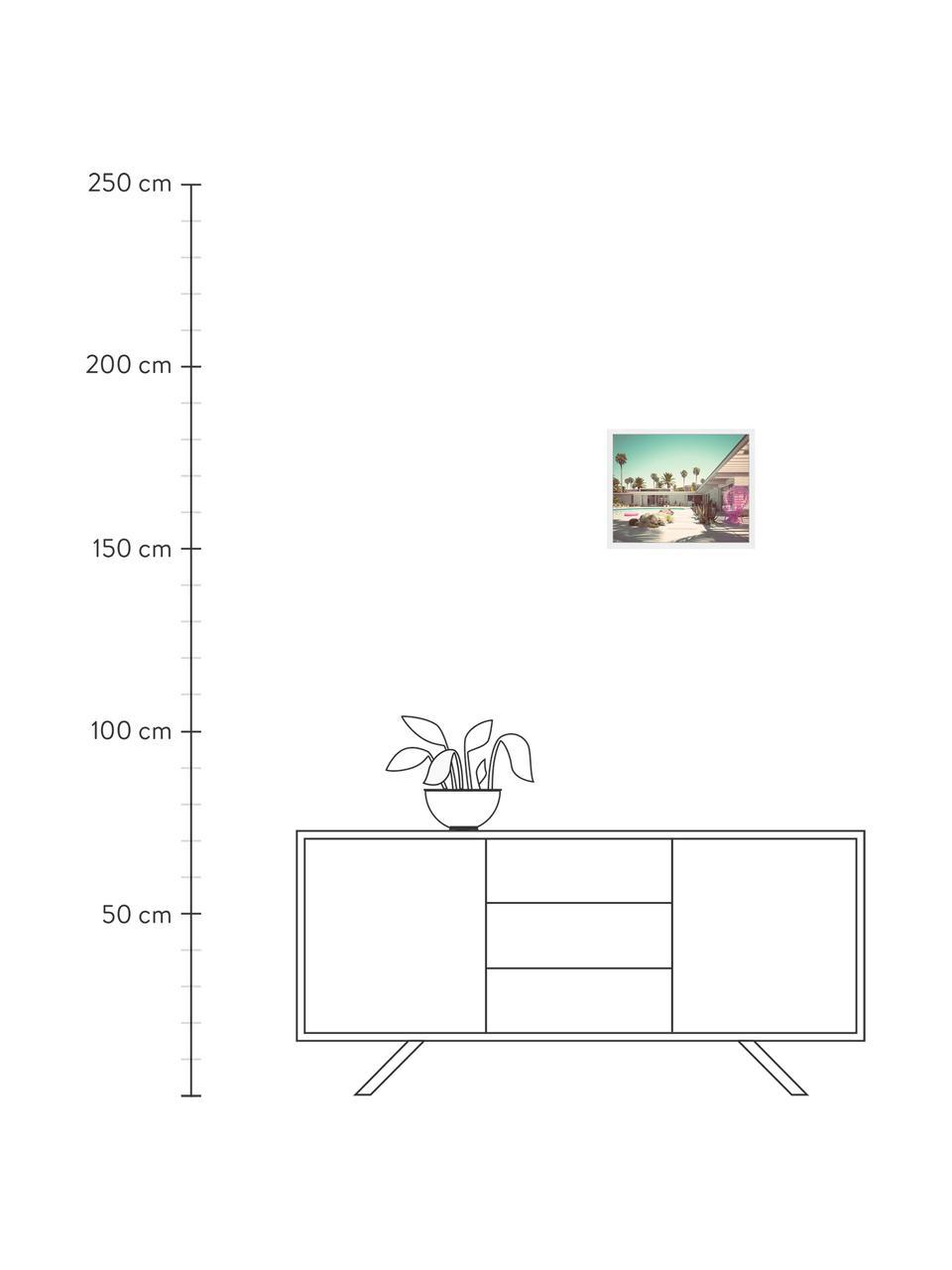 Gerahmter Digitaldruck Pink Vacation, Bild: Digitaldruck auf Papier, , Rahmen: Holz, lackiert, Front: Plexiglas, Mehrfarbig, 53 x 43 cm