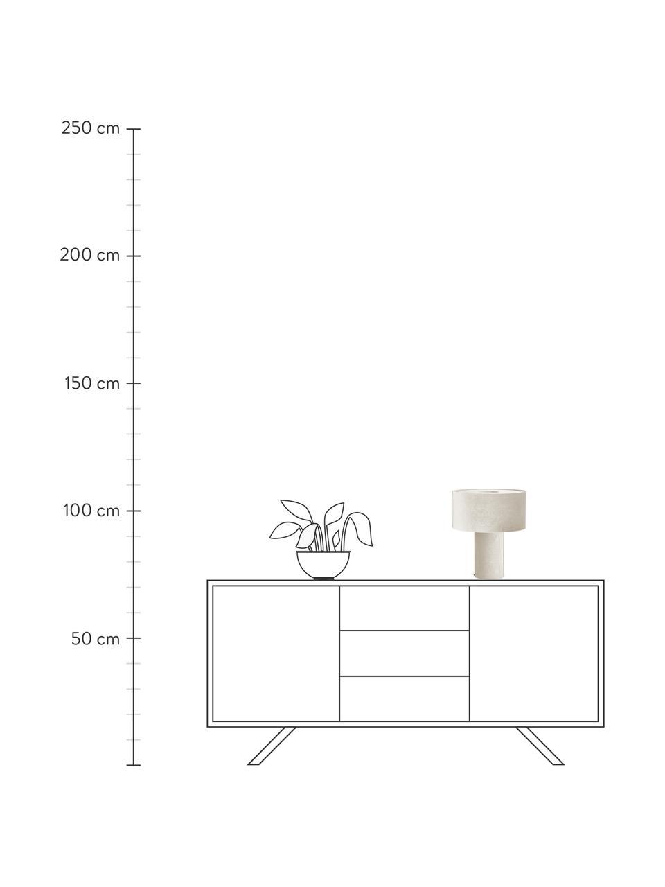 Lampada da tavolo in velluto Frida, Base della lampada: materiale sintetico con r, Paralume: velluto, Beige, Ø 30 x Alt. 36 cm