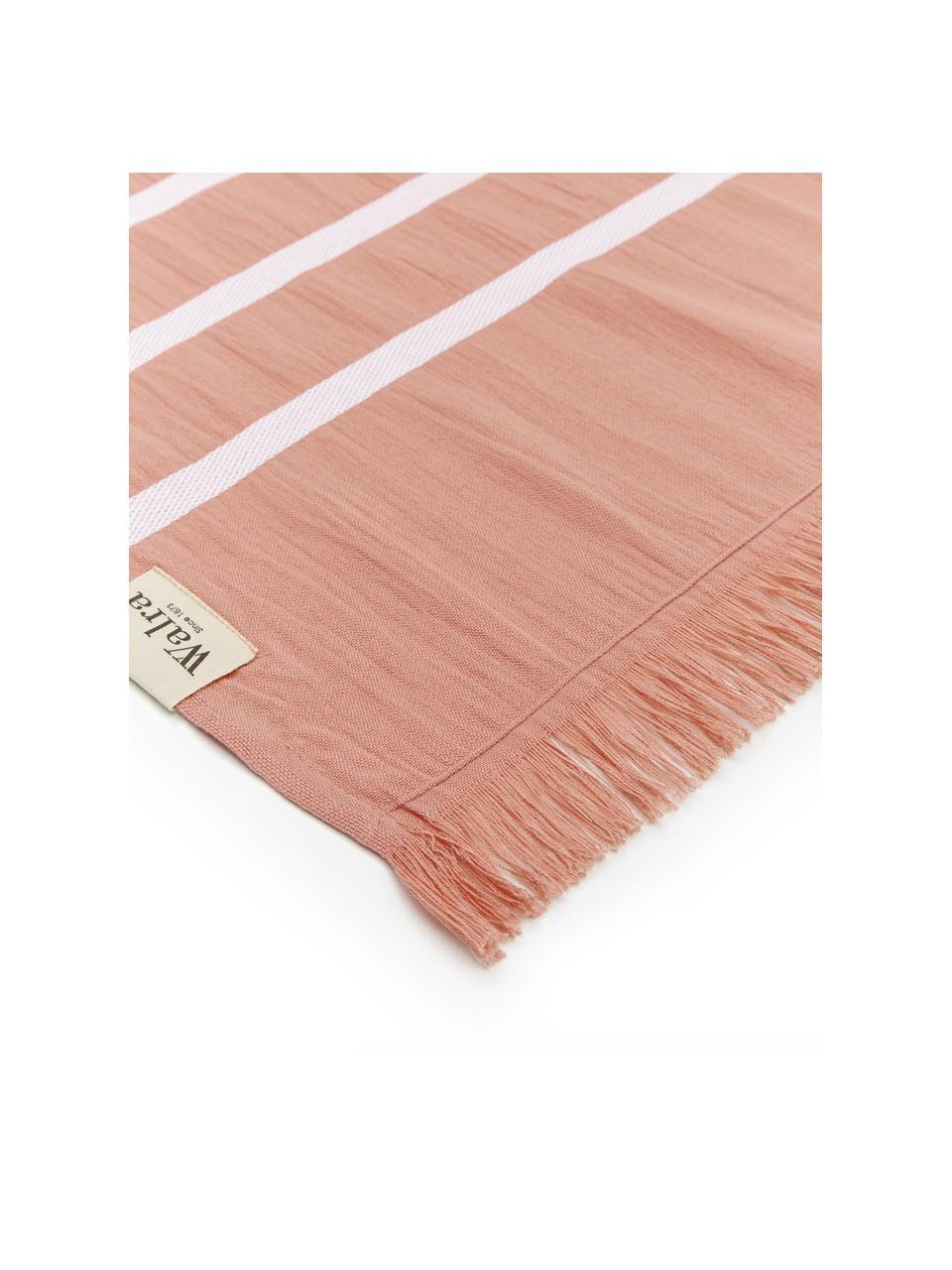 Ręcznik plażowy Filena, 100% bawełna, Terakota, biały, S 100 x D 180 cm