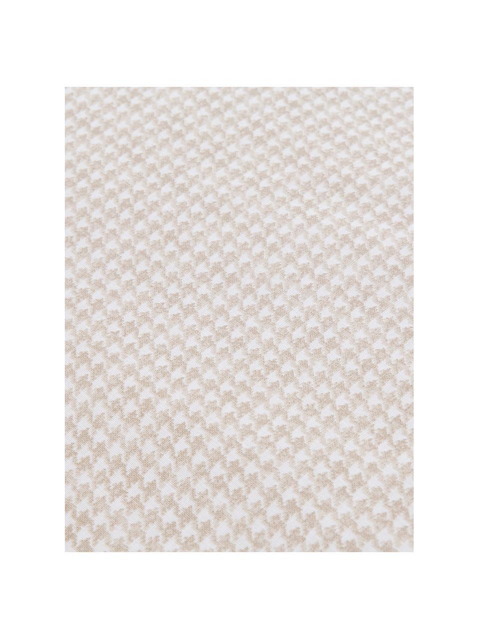Parure copripiumino in cotone ranforce Grady, Tessuto: Renforcé, Beige, bianco, 250 x 200 cm