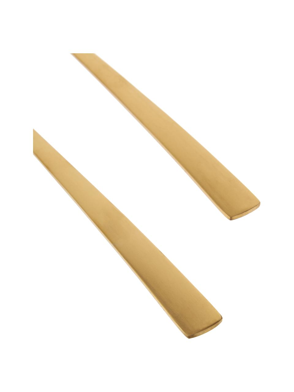 Komplet sztućców do sałatek ze stali nierdzewnej Snagg, 2 elem., Stal nierdzewna, powlekana, Odcienie mosiądzu, D 24 cm
