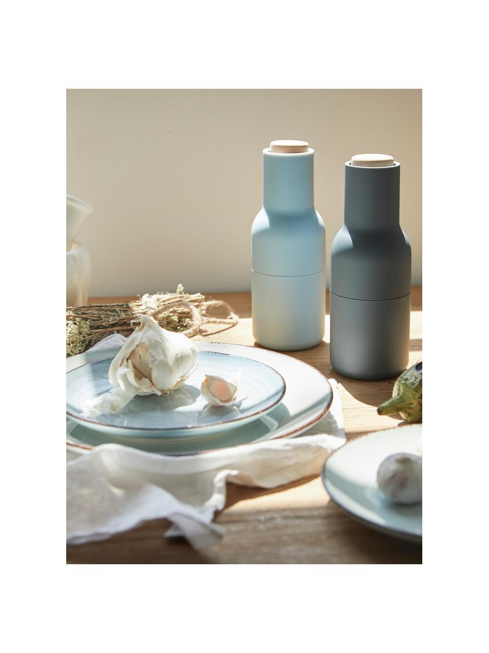 Komplet młynków do soli i pieprzu Bottle Grinder, 2elem., Korpus: tworzywo sztuczne, Niebieski, jasny niebieski, brązowy, Ø 8 x W 21 cm