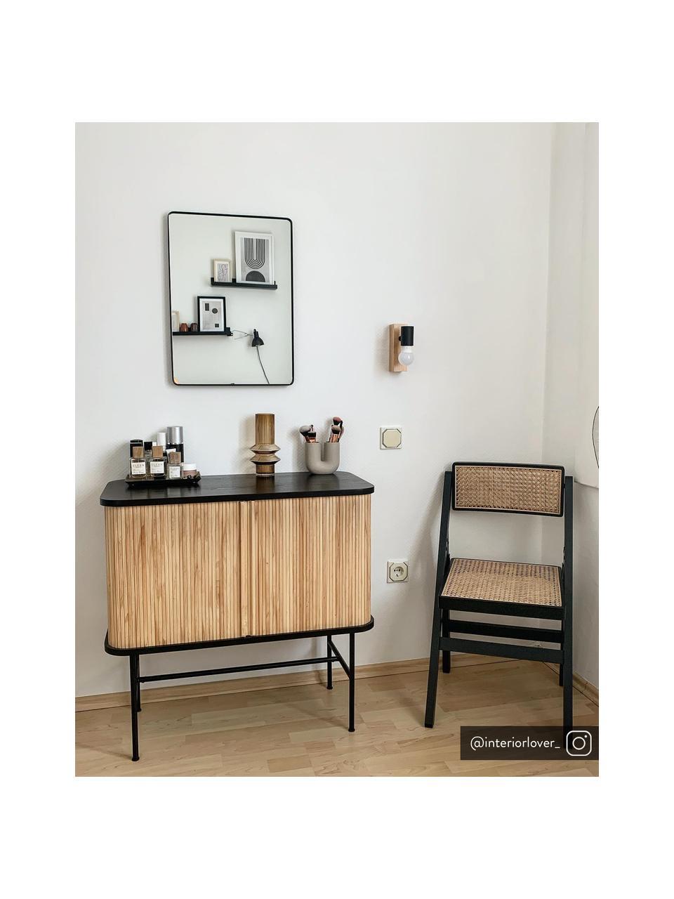 Applique in legno Townshend, Nero, legno, Larg. 5 x Alt. 17 cm