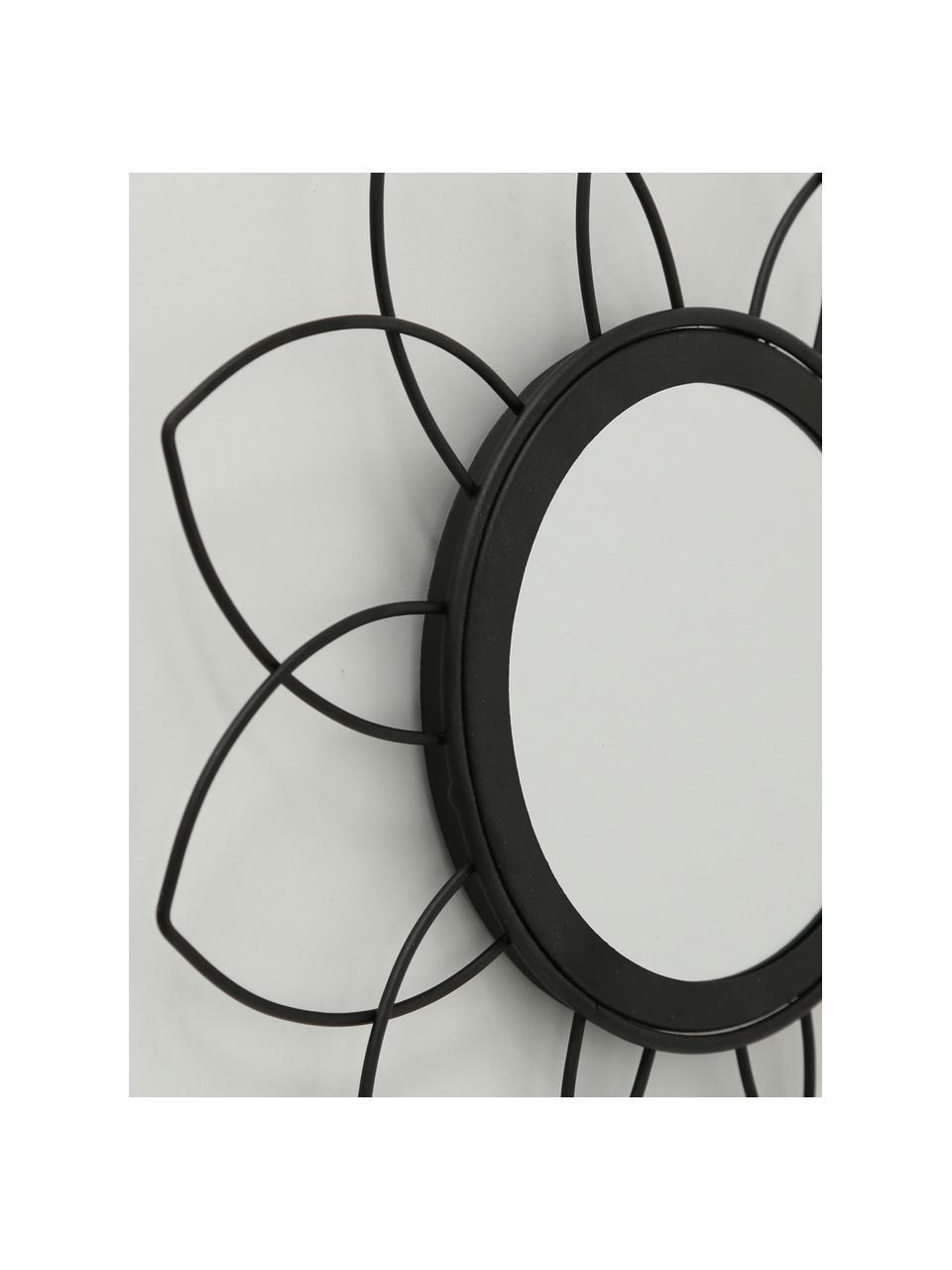 Rundes Wandspiegel-Set Noemi, 3-tlg., Rahmen: Metall, beschichtet, Spiegelfläche: Spiegelglas, Schwarz, Ø 27 cm