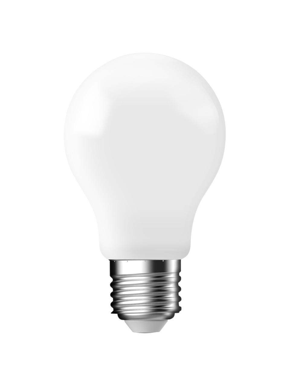 E27 Leuchtmittel, 470lm, warmweiß, 6 Stück, Leuchtmittelschirm: Glas, Leuchtmittelfassung: Aluminium, Weiß, Ø 6 x H 10 cm