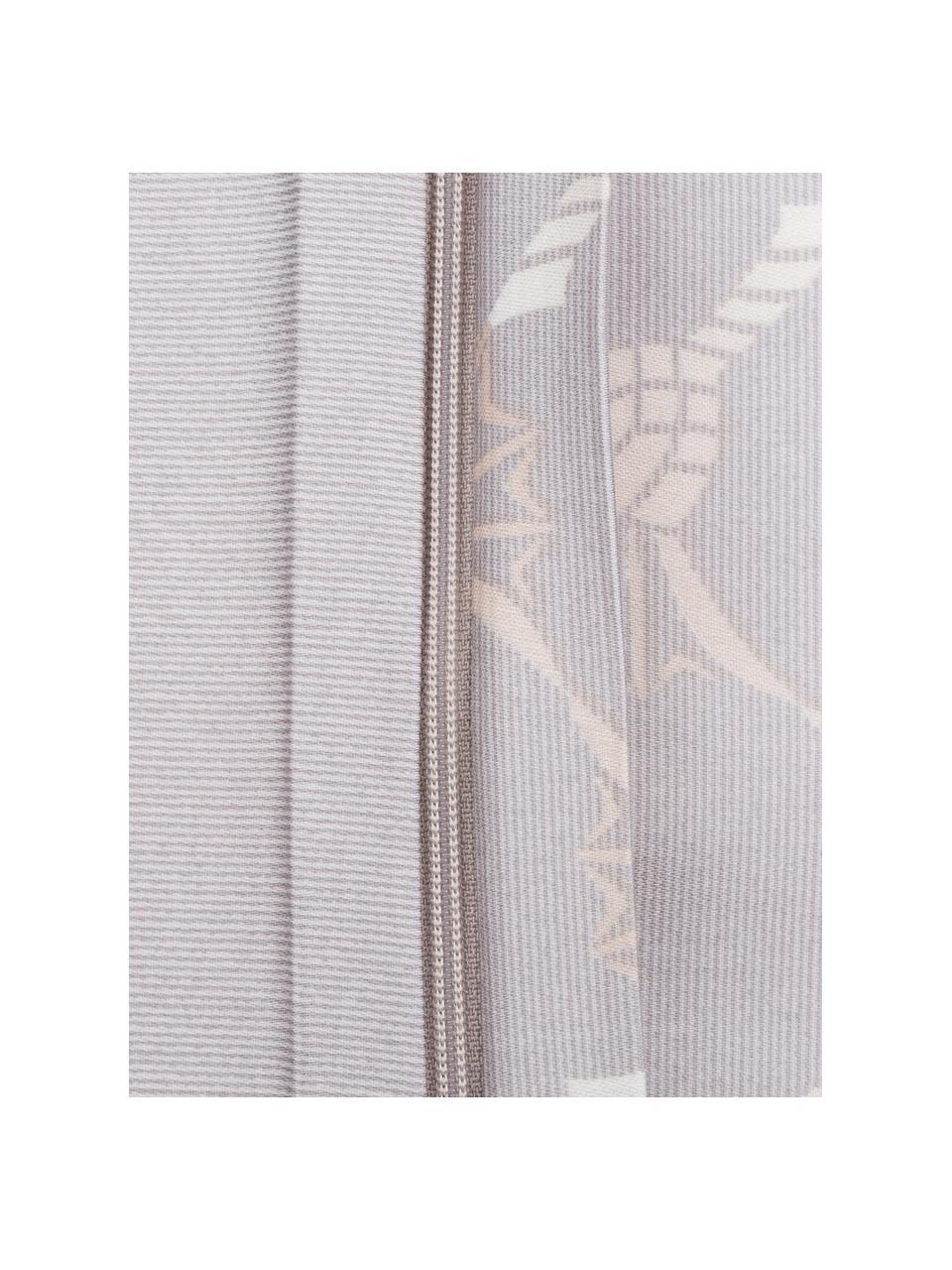 Pościel z makosatyny Cornflower Gradiant, Jasny szary, szary, beżowy, kremowy, 135 x 200 cm