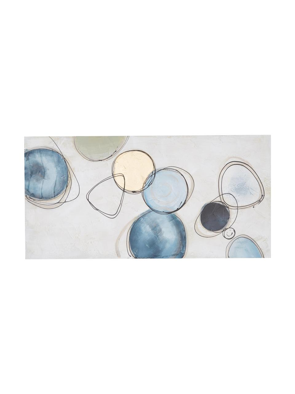 Handgeschilderde canvasdoek Convenience, Afbeelding: olieverf op linnen (300 g, Multicolour, 140 x 70 cm