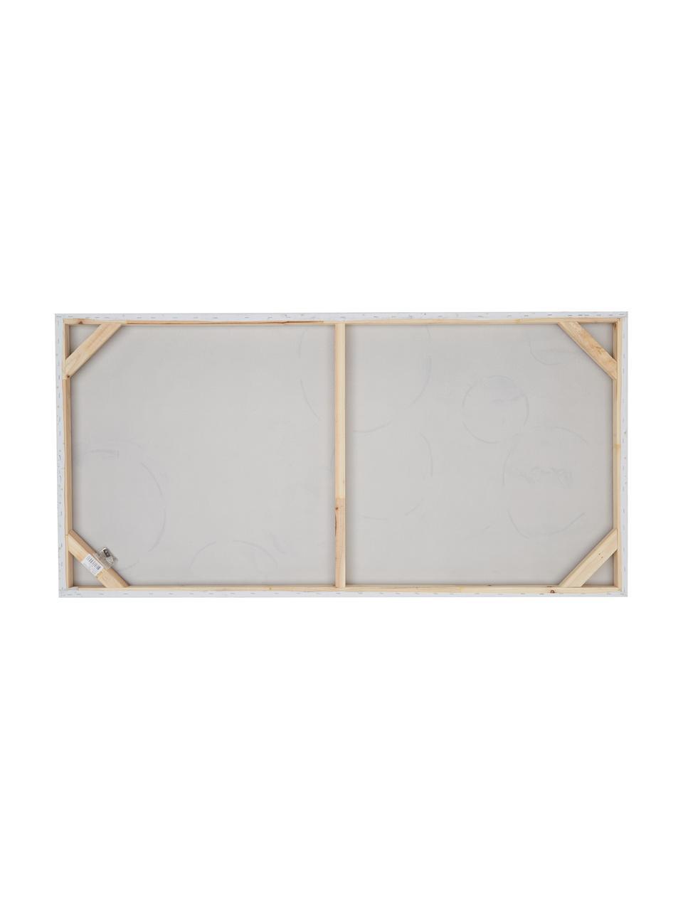 Quadro dipinto a mano Convenience, Immagine: colori ad olio su tela (3, Barella: legno di abete, Multicolore, Larg. 140 x Alt. 70 cm