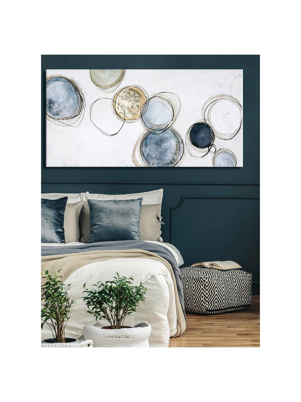 Ręcznie malowany obraz na płótnie Convenience, Wielobarwny, S 140 x W 70 cm