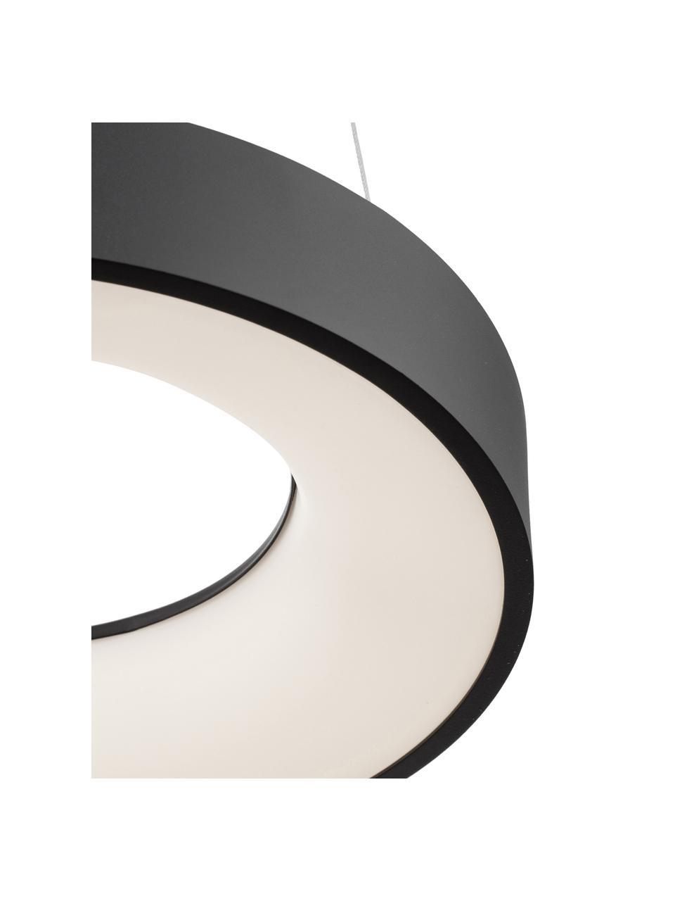 Lampa wisząca LED z funkcją przyciemniania Rando, Czarny, Ø 60 x W 6 cm