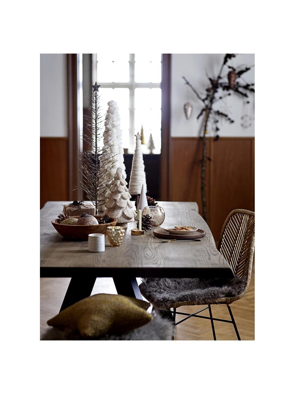 Teelichthalter-Set Sara, 4-tlg., Steingut, Weiß, Ø 7 x H 7 cm