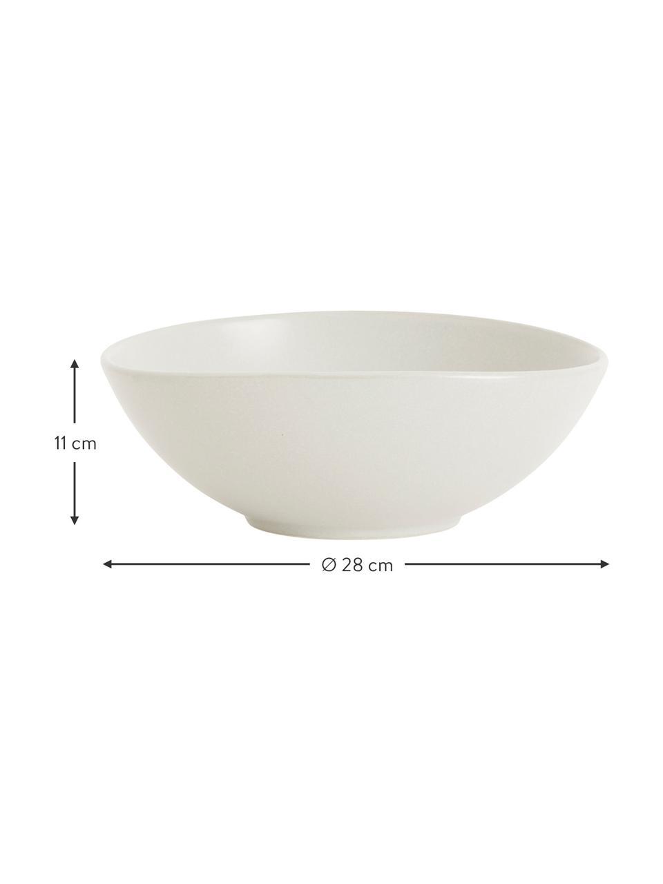 Keramische schaal Refine mat wit in organische vorm,  Ø 28, Keramiek, Gebroken wit, Ø 28 x H 11 cm