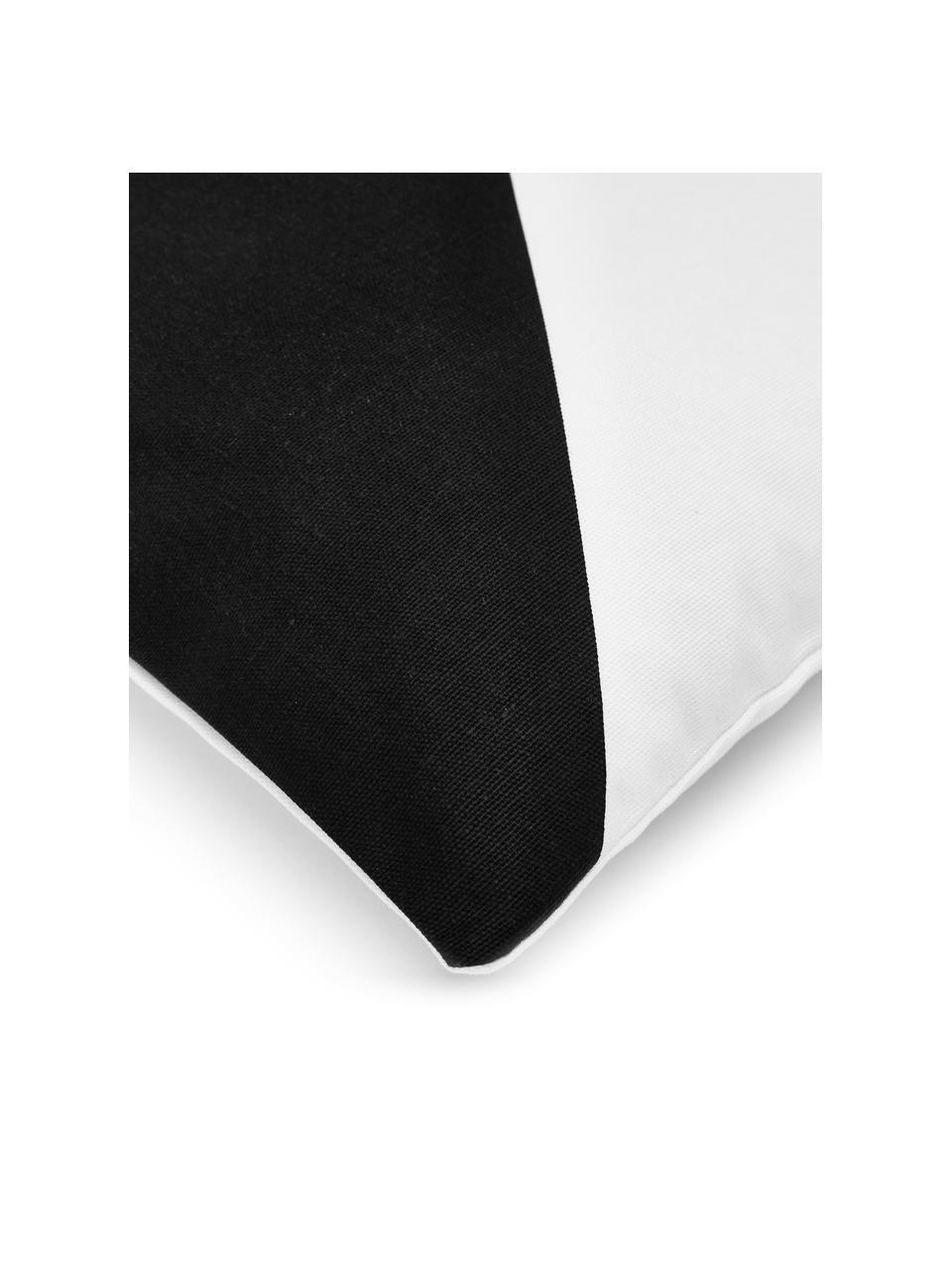 Gestreepte kussenhoes Ren in zwart/wit, 100% katoen, Wit, zwart, 30 x 50 cm