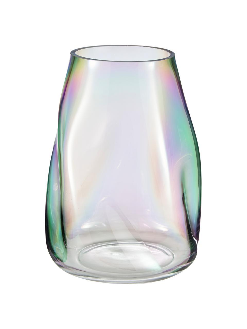 Mondgeblazen glazen vaas Rainbow, Mondgeblazen glas, Multicolour, Ø 19 x H 26 cm