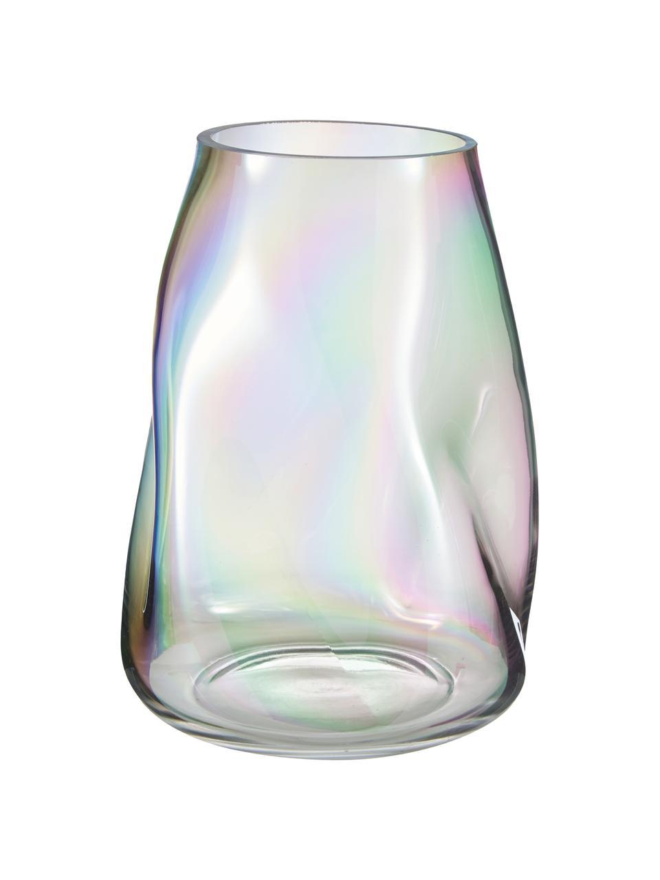 Mundgeblasene Glas-Vase Rainbow, Glas, mundgeblasen, Mehrfarbig, Ø 19 x H 26 cm