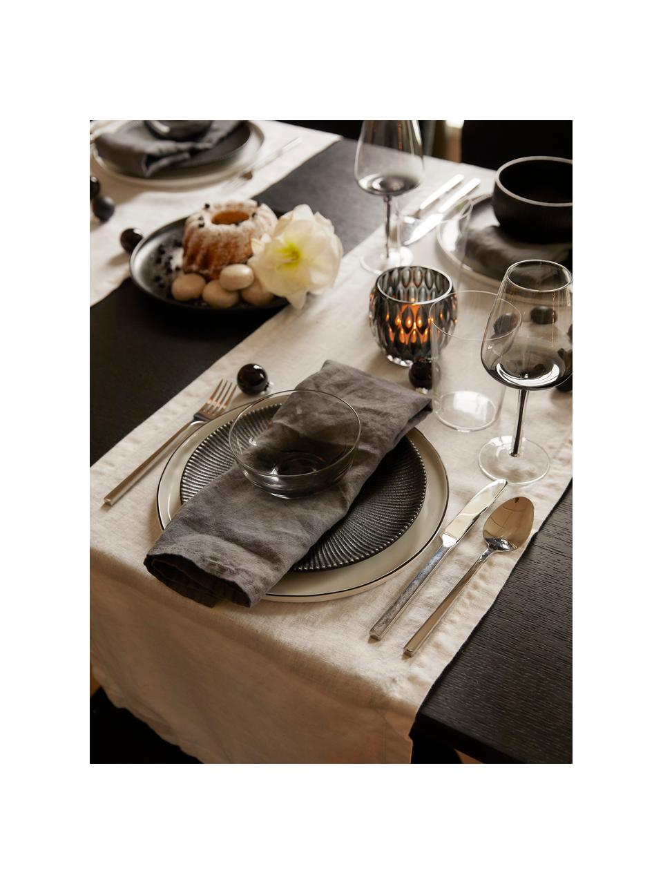Kieliszek do białego wina ze szkła dmuchanego Smoke, 4 szt., Szkło dmuchane, grubościenne, Przydymiony szary, Ø 9 x W 21 cm