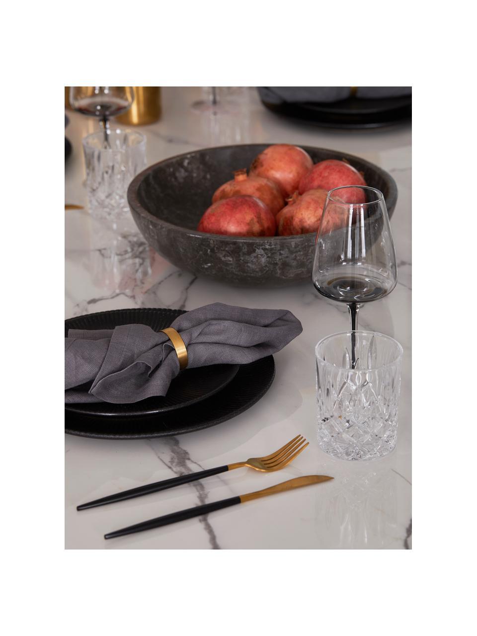 Mondgeblazen wijnglazen Smoke met grijze kleurverloop, 4 stuks, Glas, mondgeblazen en dikwandig, Fumé, Ø 9 x H 21 cm
