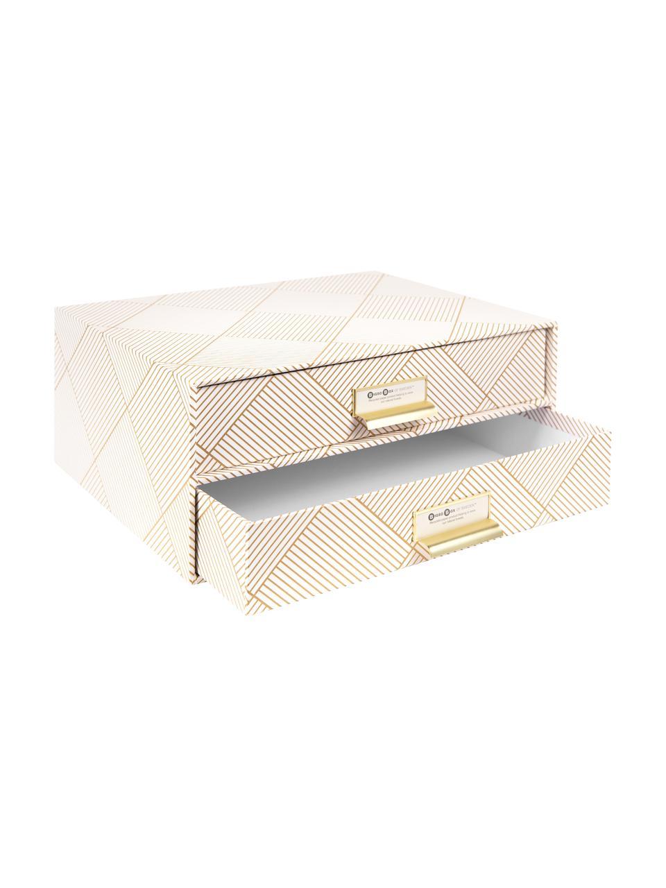 Organizer biurowy Birger, Odcienie złotego, biały, S 33 x W 15 cm
