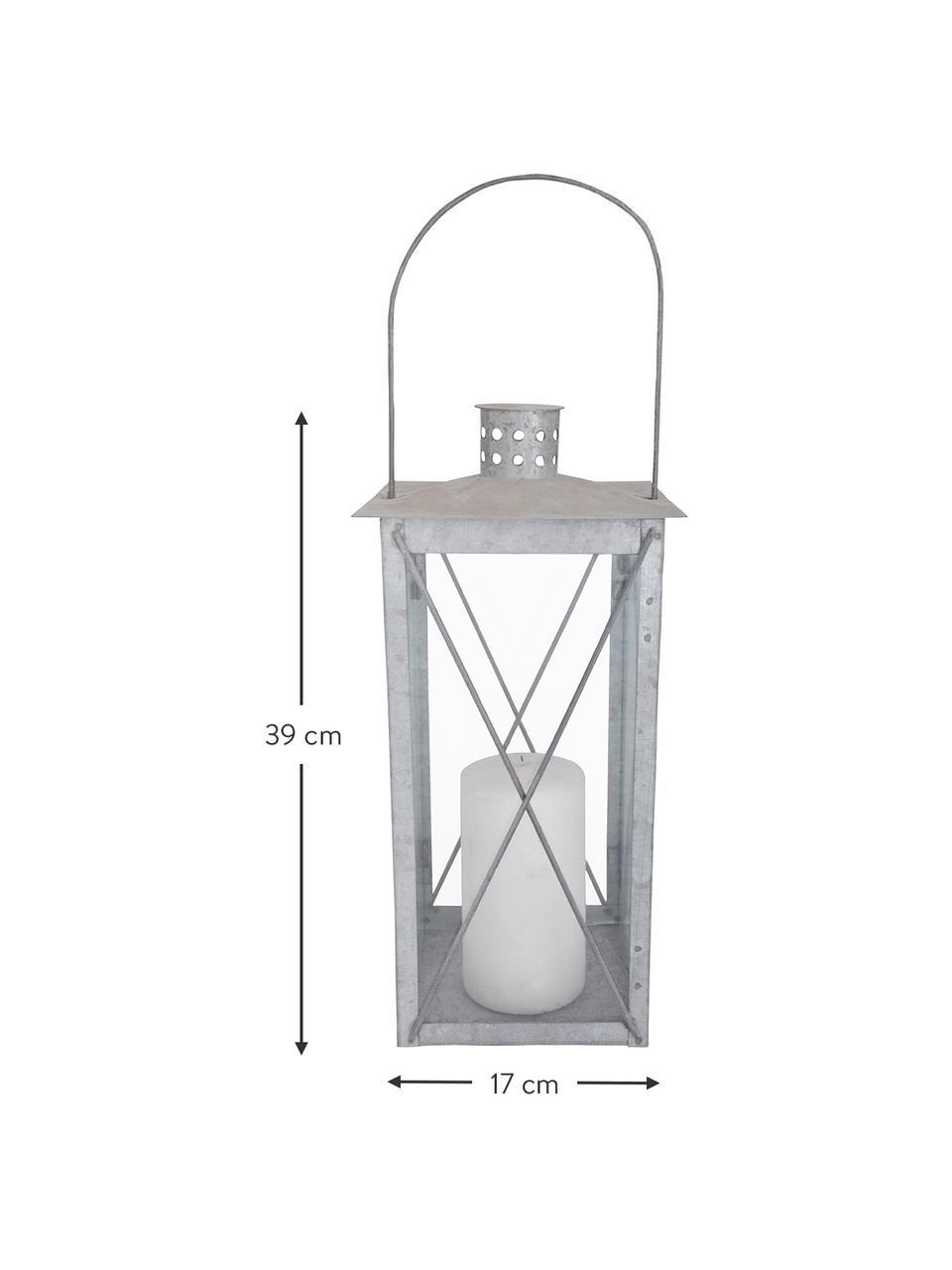 Lanterna Oldies, Argentato, Larg. 17 x Alt. 39 cm