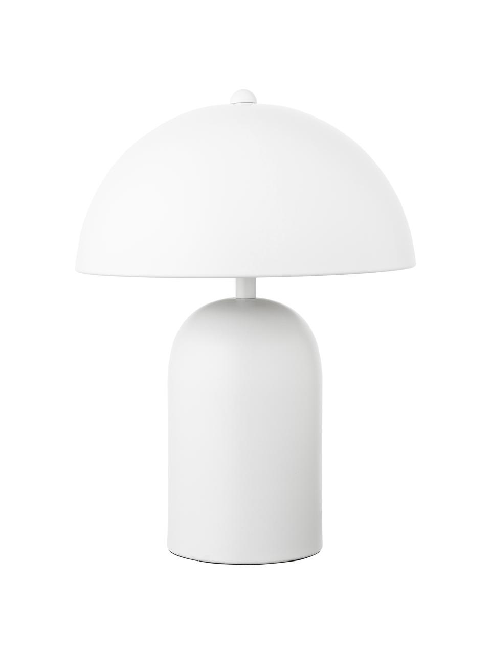 Kleine nachtlampje Walter, Lampenkap: metaal, Lampvoet: metaal, Mat wit, Ø 25 x H 33 cm