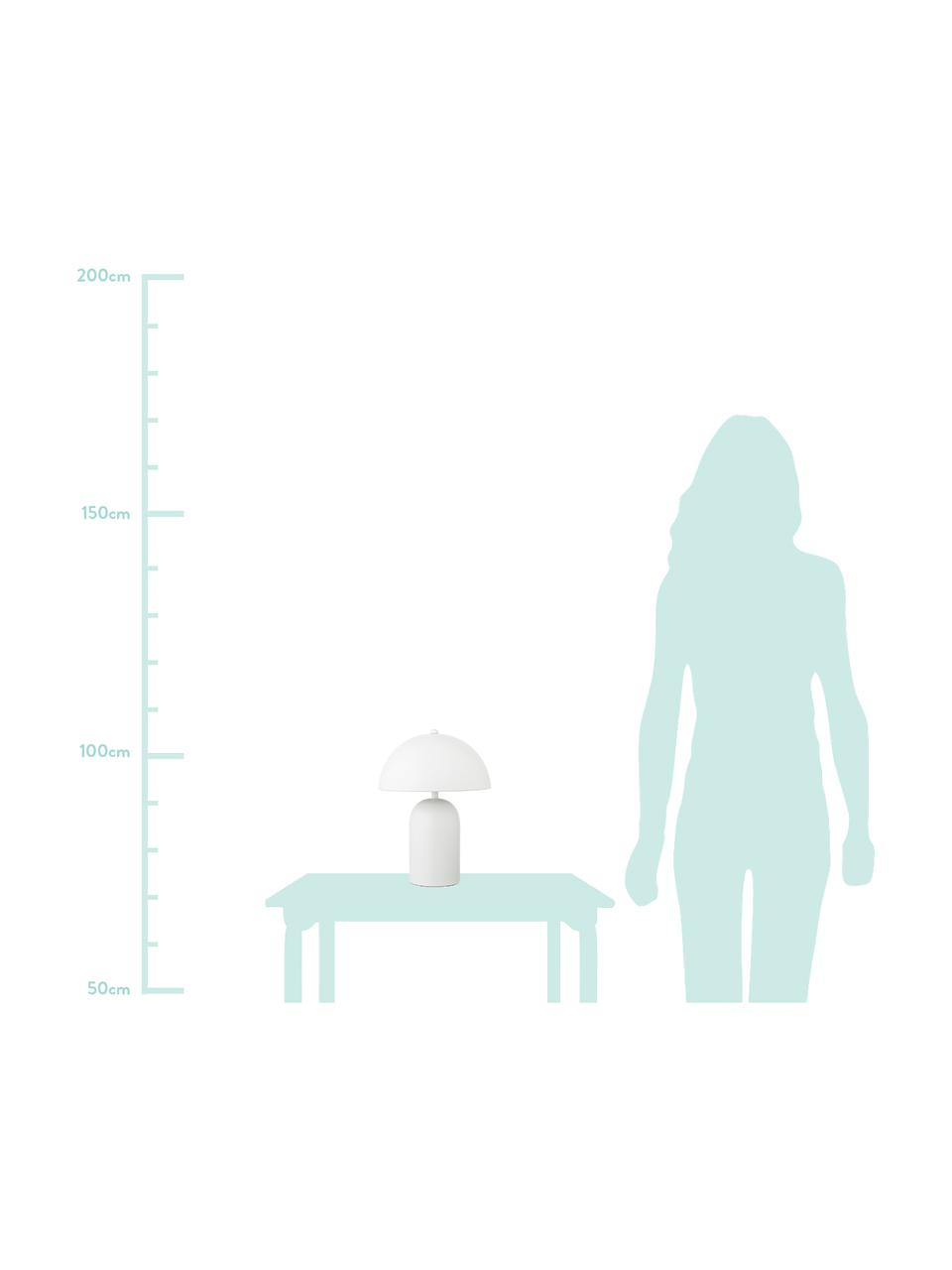Mała lampka nocna retro Walter, Biały, matowy, Ø 25 x W 33 cm