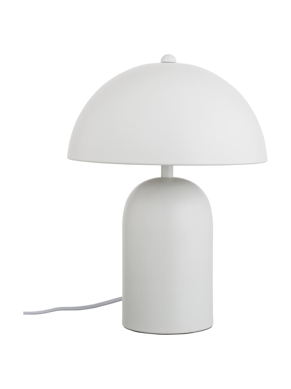 Kleine Retro-Tischlampe Walter in Weiß, Lampenschirm: Metall, Lampenfuß: Metall, Mattweiß, Ø 25 x H 33 cm
