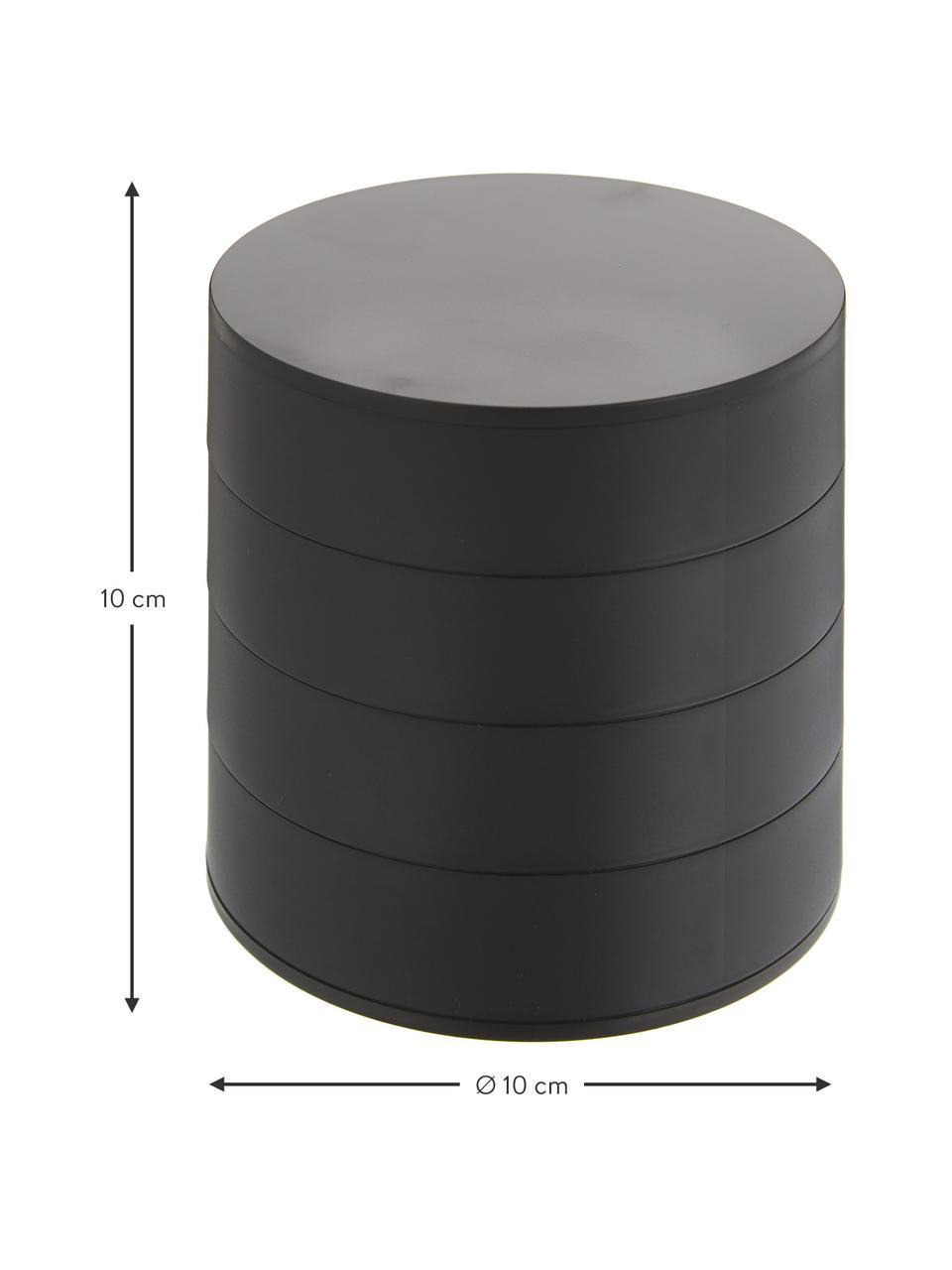 Pudełko na biżuterię Tower, Czarny, Ø 10 x W 10 cm