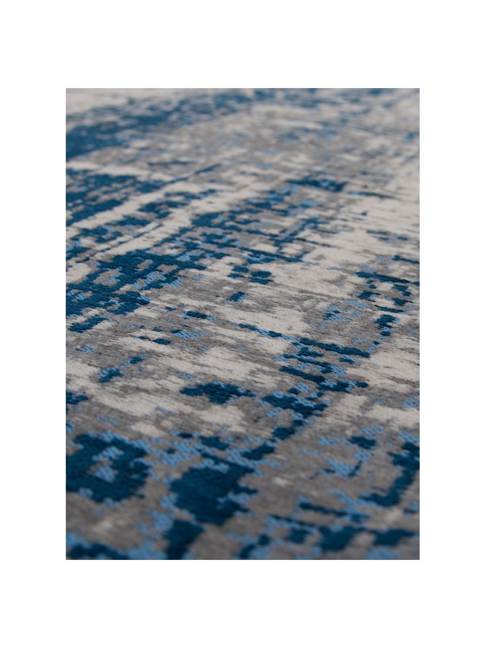 Dywan w stylu vintage Griff, Niebieski, szary, S 80 x D 150 cm (Rozmiar XS)