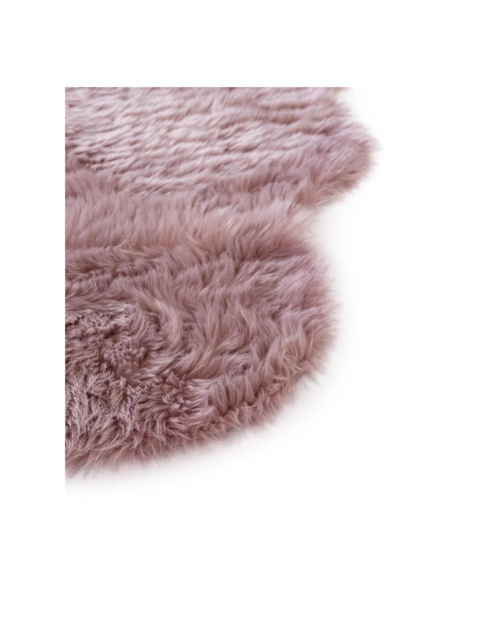 Kunstfell-Teppich Elmo, glatt, Flor: 50% Acryl, 50% Polyester, Rosa, B 140 x L 200 cm (Größe S)