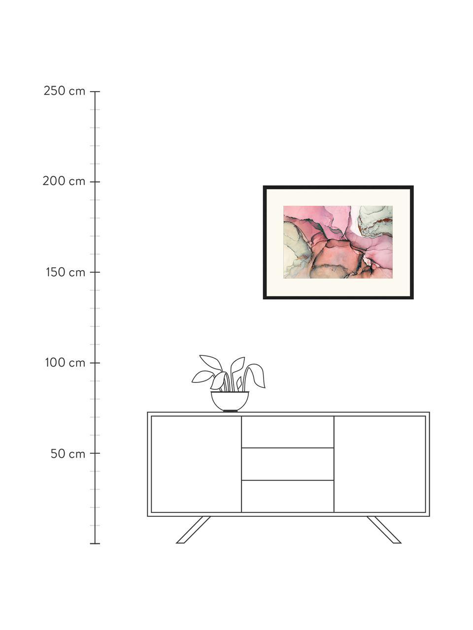 Gerahmter Digitaldruck Abstract Art I, Bild: Digitaldruck auf Papier, , Rahmen: Holz, lackiert, Front: Plexiglas, Mehrfarbig, 83 x 63 cm