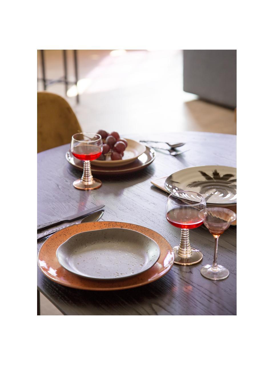 Bicchiere vino con  gambo finemente lavorato Swirl 8 pz, Vetro, Trasparente, beige, Ø 9 x Alt. 14 cm