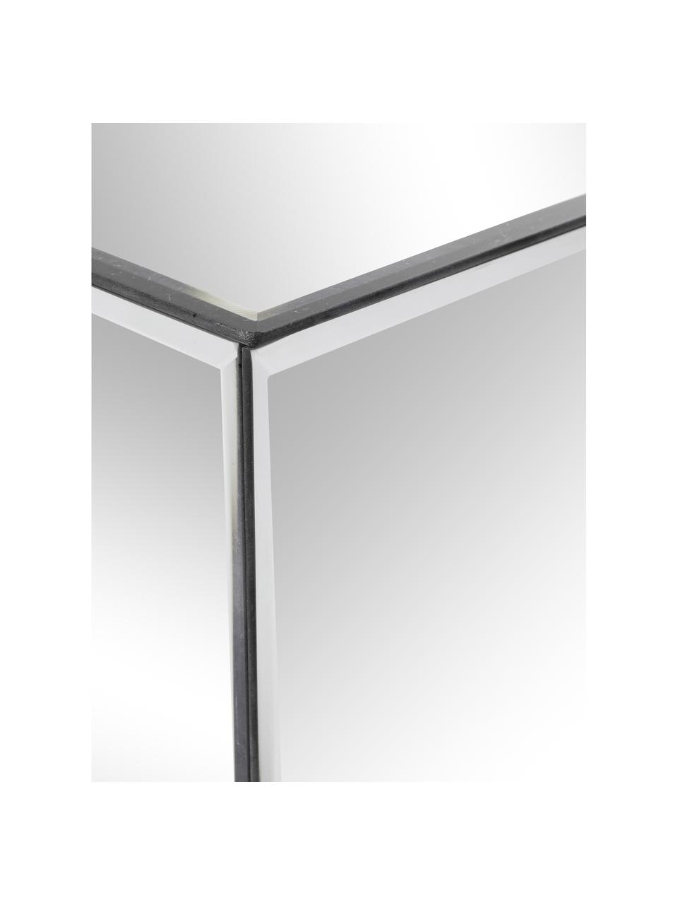 Verspiegelde bijzettafel Luxury, Frame: MDF, Spiegelglas, B 45 x D 45 cm