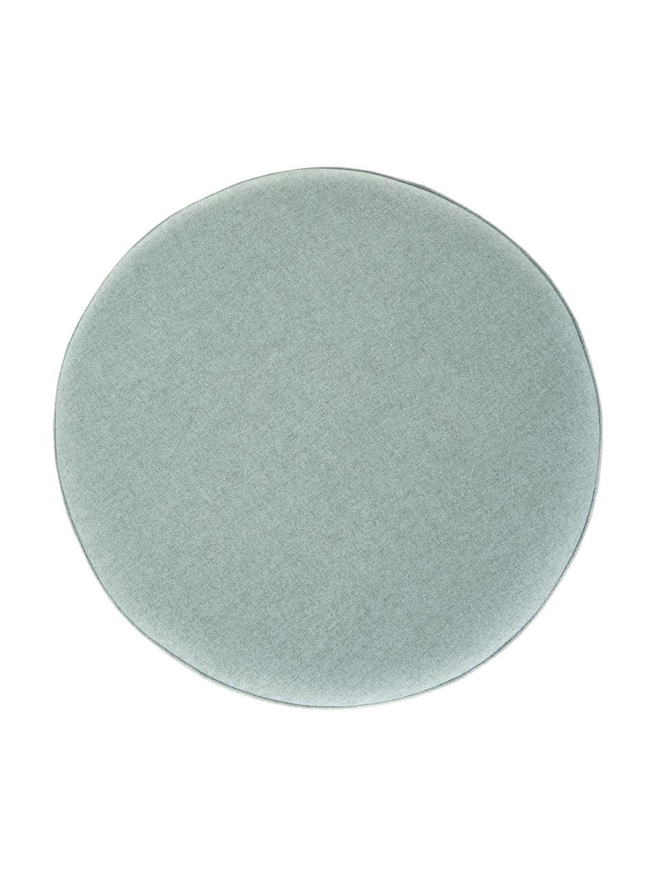 Kruk Daisy in blauwgroen, Bekleding: 100% polyester, Frame: multiplex, Blauw, Ø 38 x H 45 cm