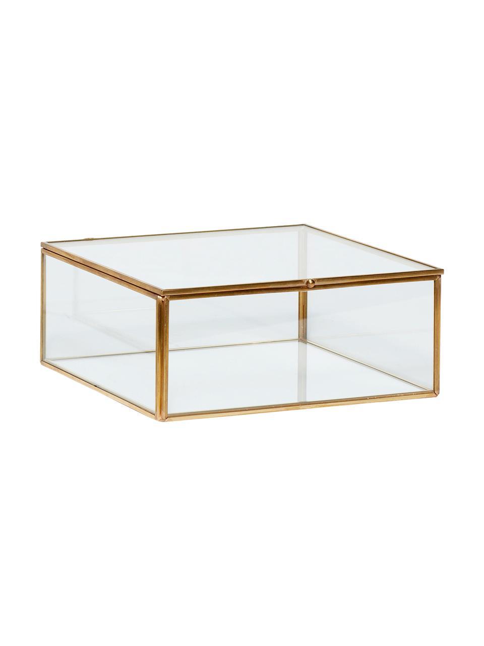 Set 2 scatole Karie, Cornice: ottone, Scatola: vetro, Ottone trasparente, Set in varie misure