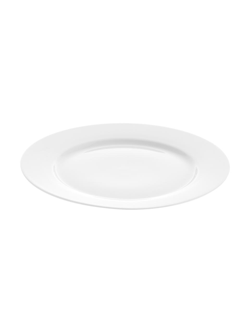 Porzellan-Frühstücksteller Delight Classic in Weiß, 2 Stück, Porzellan, Weiß, Ø 23 cm