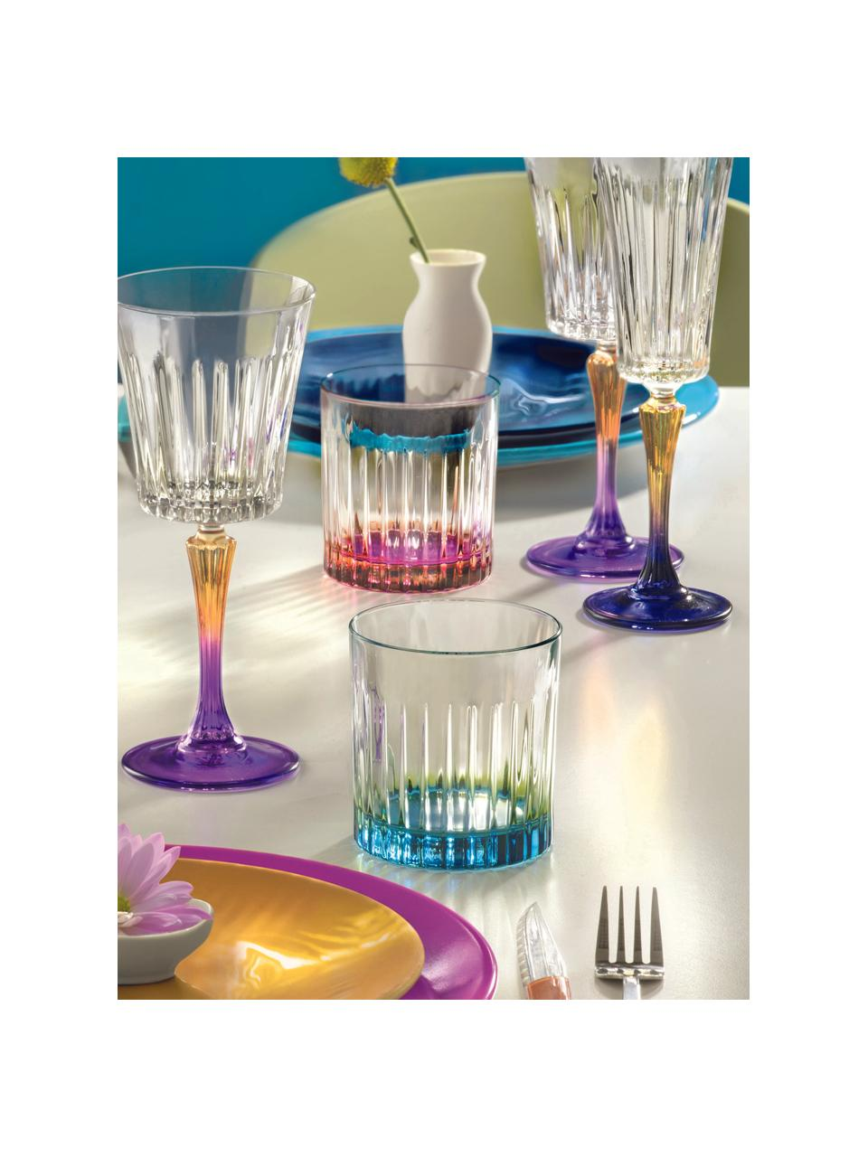 Bicchiere in cristallo Luxion Gipsy 6 pz, Cristallo Luxion, Trasparente, color rame, rosa, Ø 8 x Alt. 9 cm