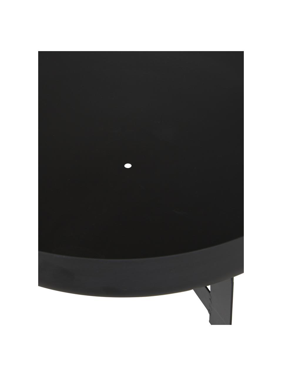 Feuerschale Efesto, Stahl, pulverbeschichtet, hochtemperaturbeständig, Schwarz, Ø 60 x H 24 cm