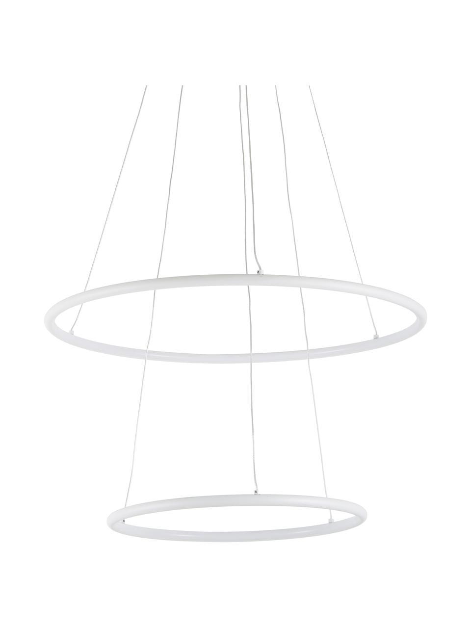 Große LED-Pendelleuchte Orion, Lampenschirm: Metall, beschichtet, Baldachin: Metall, beschichtet, Weiß, Ø 60 x H 50 cm