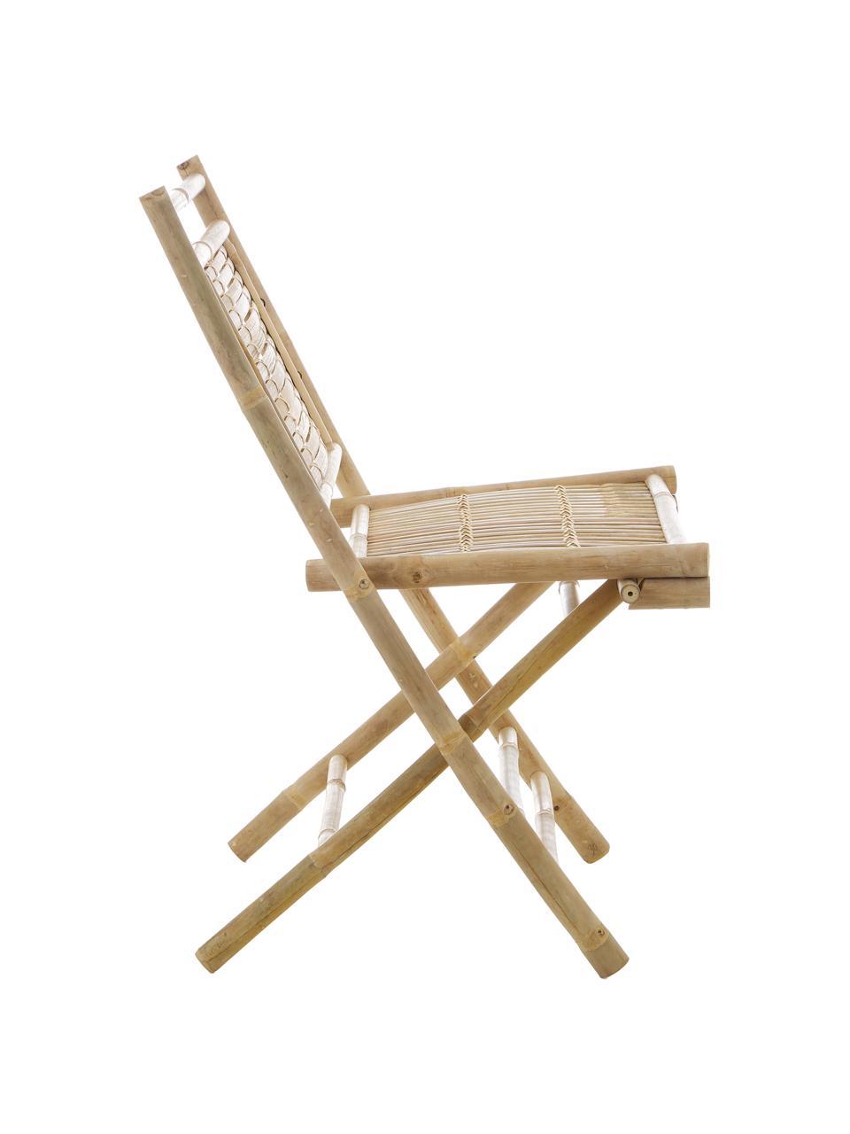 Zahradní skládací židle z bambusu Tropical, 2 ks, Hnědá
