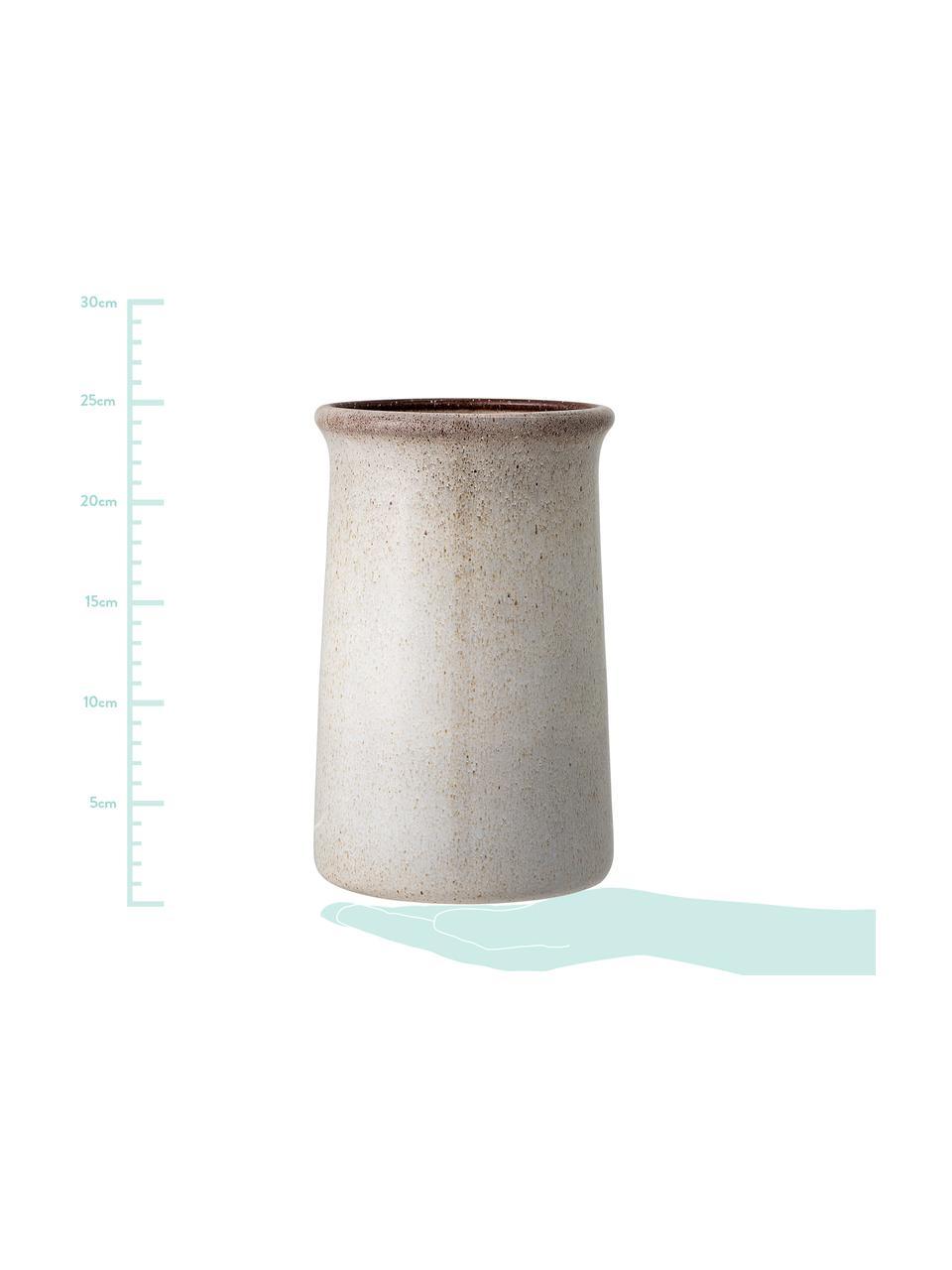 Handgemachter Flaschenkühler Sandrine in Beige, Steingut, Beigetöne, Ø 15 x H 23 cm