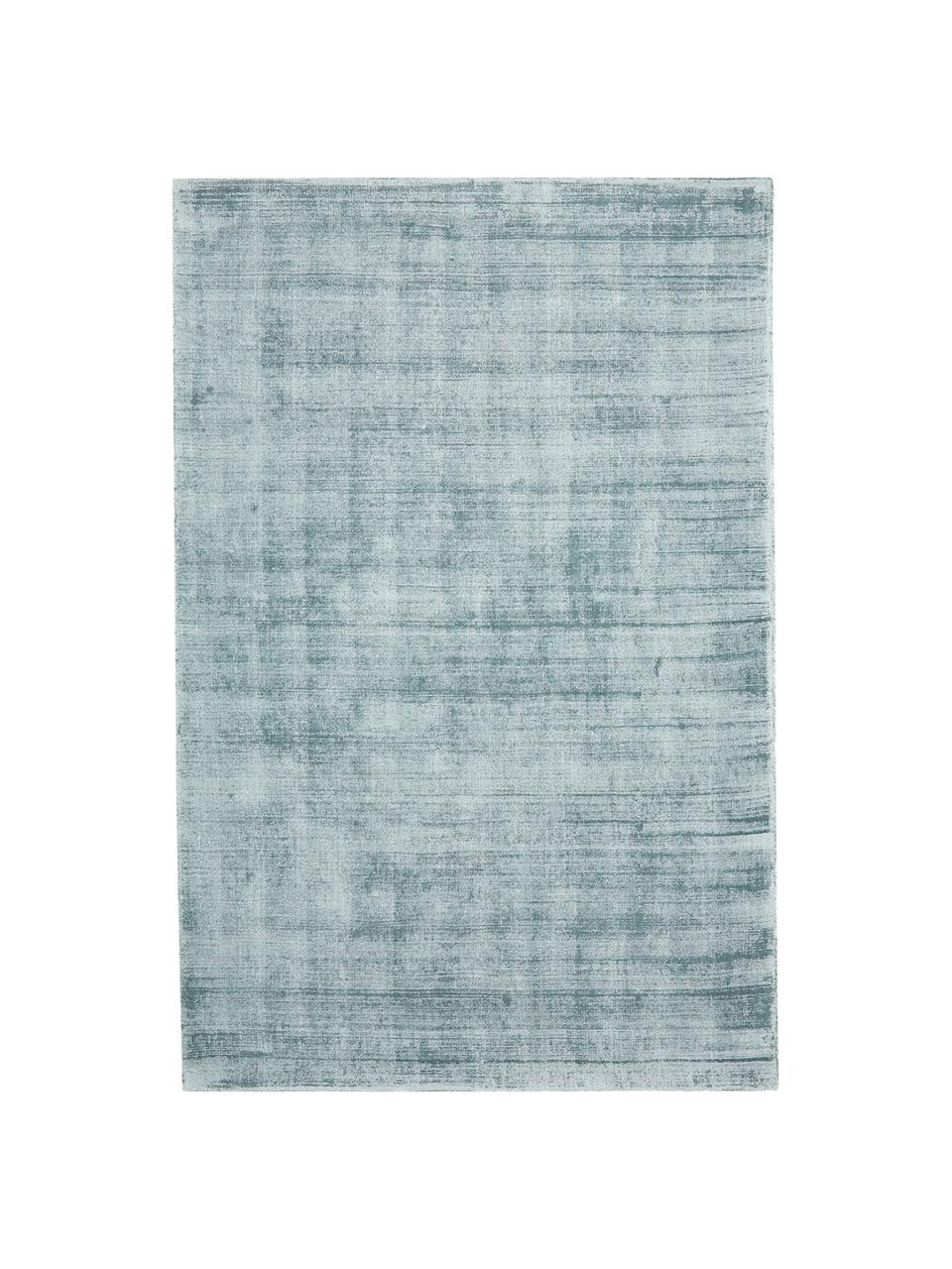 Ręcznie tkany dywan z wiskozy Jane, Chłodny niebieski, S 200 x D 300 cm (Rozmiar L)