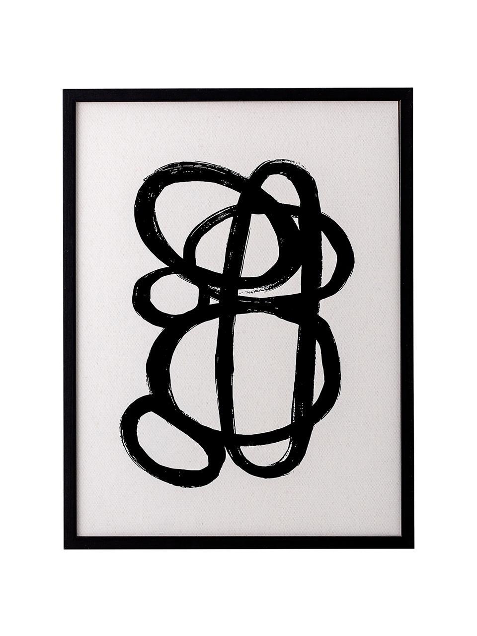 Gerahmter Digitaldruck Doris, Rahmen: Kiefernholz, Bild: Digitaldruck auf Papier, Front: Glas, Schwarz, 32 x 42 cm