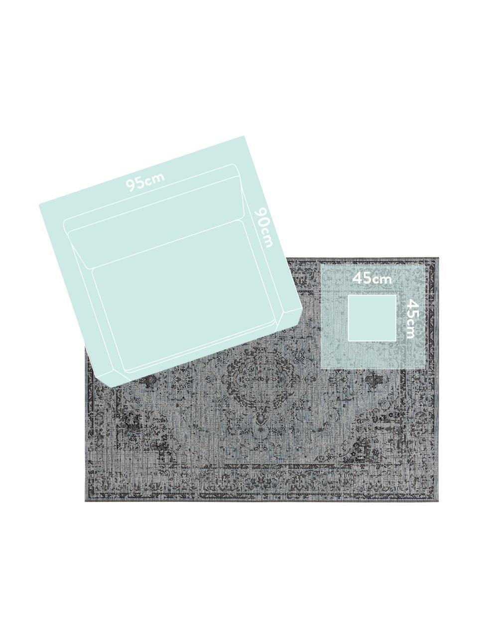 In- & Outdoor-Teppich Cenon im Vintagelook, 100% Polypropylen, Blautöne, B 190 x L 290 cm (Größe L)