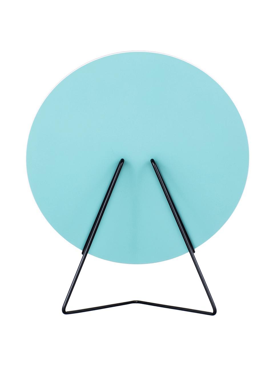 Lusterko kosmetyczne Standing Mirror, Stelaż: stal malowana proszkowo, Stelaż: czarny Lustro: szkło lustrzane, S 20 x W 23 cm