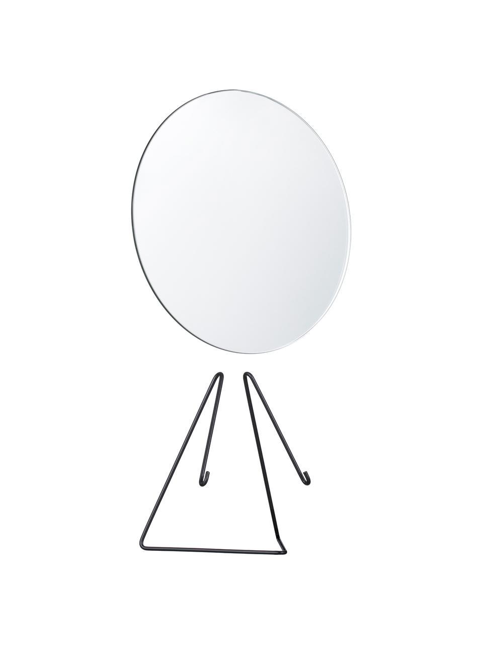 Make-up spiegel Standing Mirror, Lijst: zwart. Spiegel: spiegelglas, 20 x 23 cm