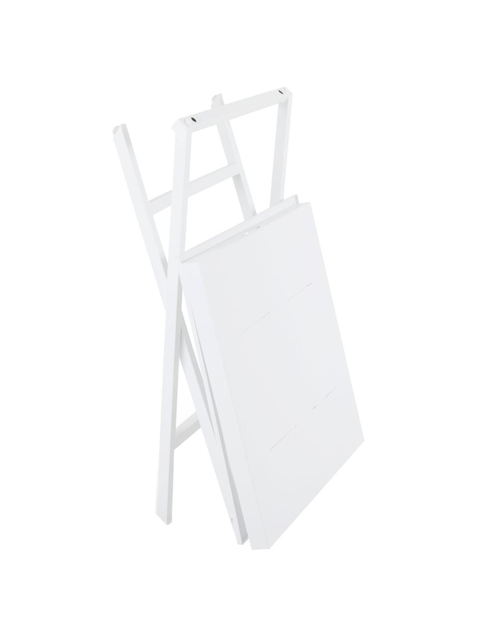 Inklapbaar dienbladtafel Vero in wit, Gecoat aluminium, Mat wit, 60 x 70 cm