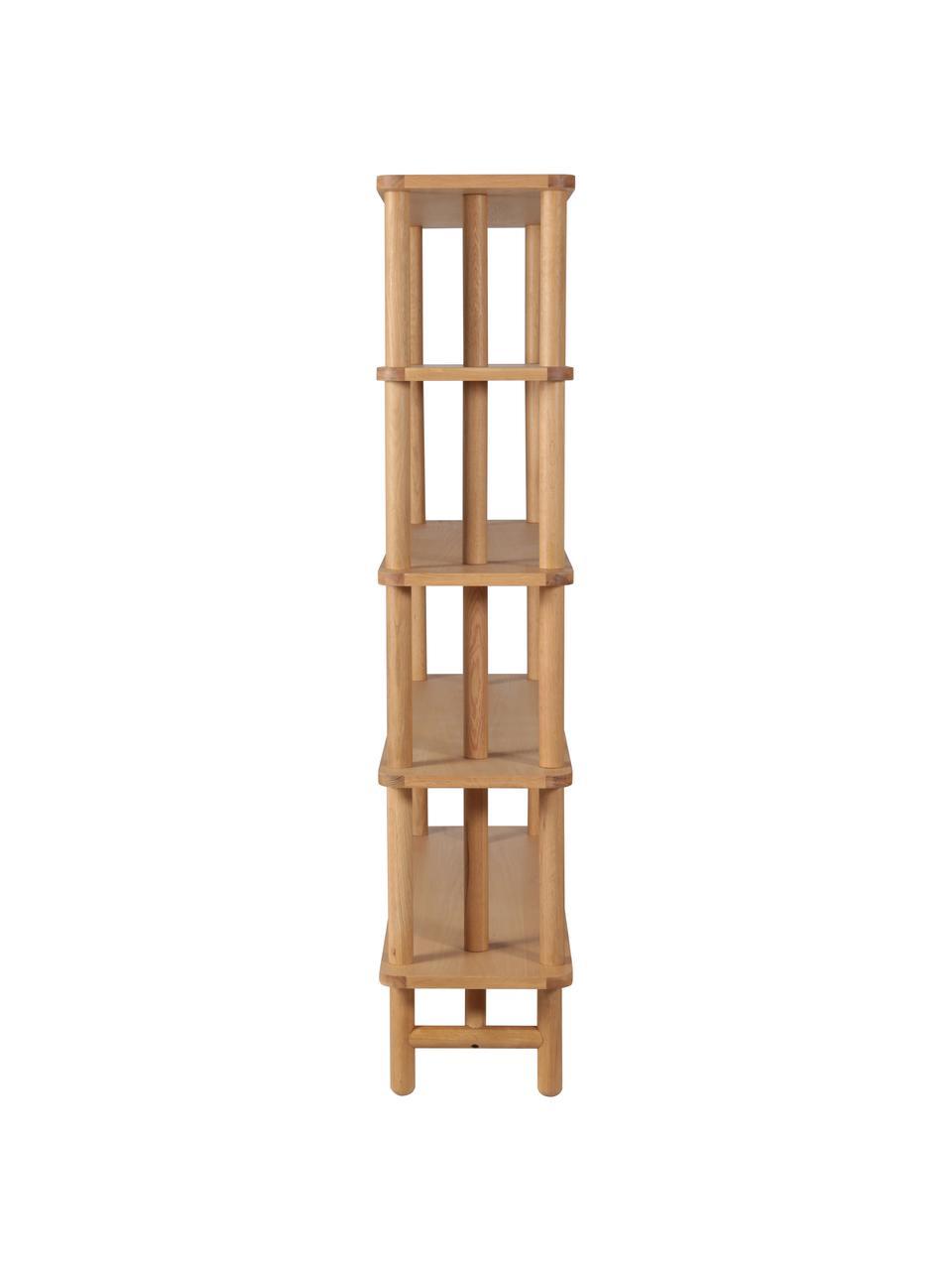 Eichenholz-Standregal Gost, Eichenholz, massiv, Mitteldichte Holzfaserplatte (MDF), Beige, 140 x 180 cm